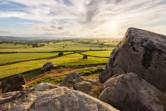 Almscliffe Crag (matrobinsonphoto) Tags: light sunset outcrop sun sunlight landscape grit outdoors golden rocks yorkshire north rocky millstone hour harrogate wharfedale gritstone crag almscliffe