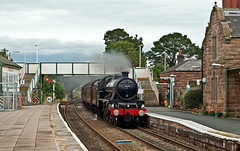 north wales coast express (midcheshireman) Tags: steam train locomotive jubilee 45690 leander mainline cheshire