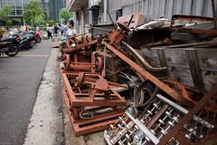 (kasa51) Tags: abandoned japan tokyo debris rusty tsukiji fishmarket ruined   twowheeledcart  gaihachiguruma