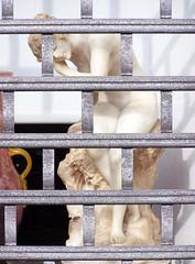 Venus vergitterata (wolfgraebel) Tags: street woman window statue nude mnchen grid akt fenster goddess schaufenster barefoot frau gttin strase gabelsberger barfus
