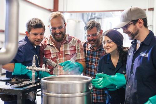 Sales Team Brewing Pilot Beer