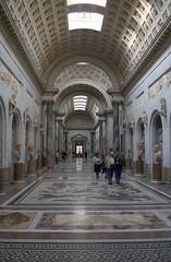 Vatican Museum, 1996 (bourdieu_boy) Tags: italy vatican film museum 35mm pentax kodak scan hallway epson analogue marble italians pentaxme v370 pentaxa3570mm
