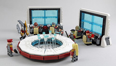 Command Center (MaverickDengo) Tags: space lego moc futuristic military command center computers holographic display ldd digital designer
