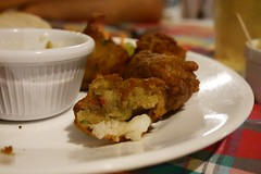 Accras aux crevettes (lulun & kame) Tags: america martinique caribbeanfood ansealane lumixg20f17 americasfood