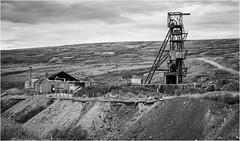 Groverake Mine & buildings . (wayman2011) Tags: uk mono oldbuildings mines canon5d dales pennines lightroom countydurham weardale leadmining bwlandscapes mineworkings wayman2011