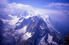 Mont Blanc from the Petit Dru (andywalker1) Tags: andrewwalker americandirect dru petitdru chamonix alps alpineclimbing