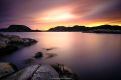 Sunset (Steinskog) Tags: sunset summer sea ocean water clouds longexposure fujifilm korshamn lyngdal norway