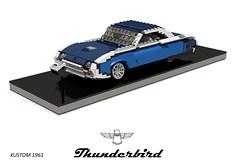 Ford Thunderbird Hardtop (Kustom - 1961) (lego911) Tags: tbird ford thunderbird hardtop custom kustom 1961 1960s classic v8 auto car moc model miniland lego lego911 ldd render cad povray lugnuts challenge 107 saturdaymorningshownshine saturday morning show n shine usa america foitsop