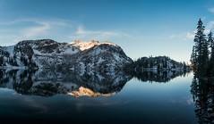 Zirkel Circle Sunrise (self.defenestration) Tags: mountain elevation lake cold snow freezing alpine reflection mirror landscape nature hiking blue morning sunrise colorado rockies west