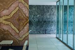 Barcelona pavilion (Dimitri Tenezakis) Tags: barcelonapavilion barcelona spain architecture modern modernism miesvanderrohe architect texture color granite marble