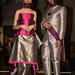 Models recreant l'obra del pintor Rothko amb els seus vestits. Foto: Santi Pujolàs.