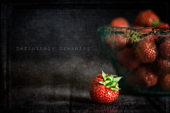 Strawberries {with textures} (DefinitelyDreaming) Tags: food foodphotography foodasart 2lilowls textures berries strawberries etsy fineartprint