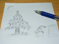 圣诞快乐!/Merry Christmas! (KAMEERU) Tags: christmas sketch