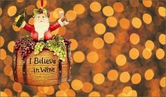 I believe in Christmas... wine (marialourenzo) Tags: santa christmas adorno lights navidad wine bokeh ornament figure santaclaus nadal pèrenoël babbonatale papánoel