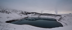 Viti Crater (Subversive Photography) Tags: winter panorama lake snow cold ice nature beautiful landscape volcano iceland crater volcanic geothermal myvatn harsh viti 17mmtse danielbarter sonya7r
