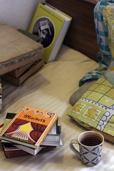 Morning with Macbeth (Mayank Austen Soofi) Tags: morning bed tea delhi shakespeare pillow macbeth walla marquez