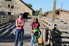 The moms watch their kids (Aggiewelshes) Tags: travel utah october lisa 2014 wellsville jalila americanwestheritagecenter awhc