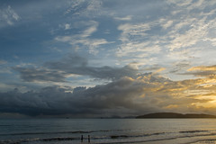 cloudy sunset (dominiquesainthilaire) Tags: thailand krabi aonang sunset beach seascape clouds thailande plage merdandaman coucherdesoleil nuages lumière light paysage ciel sky travelplanet ngc worldtrekker infinitexposure landscapedreams thisphotorocks greatphotographers aasia awsomeasia