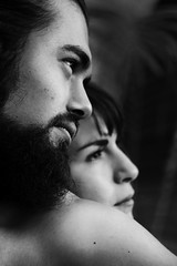 Couple. (Ivan Contreras C.) Tags: two portrait woman white man black love blanco mujer couple y pareja retrato amor negro dos hombre