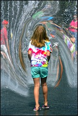 Whirling Water (swong95765) Tags: park summer vortex wet water fountain girl tempted attraction allure whirl attracted