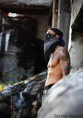 Gangster (darwingallego) Tags: street portrait tattoo ink calle retrato manizales asphalt tatuaje ganster tatouaje darwingallego