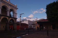 Antigua Guatemala, Guatemala (ARNAUD_Z_VOYAGE) Tags: world street city santiago sky people cloud sun mountain color bus green heritage cars nature colors beautiful fog architecture clouds america spectacular de landscape volcano la town site los highlands amazing ruins view natural guatemala capital centro colonial central churches unesco well antigua spanish huge preserved volcanoes baroque region volcanic moutains department centrale municipality departmental caballeros volcn influenced volcanism sacatepquez
