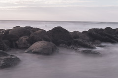 On the Rocks (lbp_3) Tags: new sunset sea summer bw white black beach peru canon eos holidays rocks long exposure lima year north punta bnw sal mancora on 70d