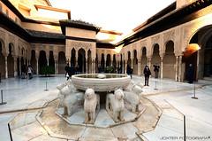 Granada 14 (Alhambra) (Jorge Cscar) Tags: espaa castle fountain andaluca spain fuente palace alhambra granada andalusia castillo palacio patronato patiodelosleones
