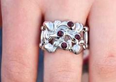 Glimpse of Malibu Purple Ring K1 P4160-3