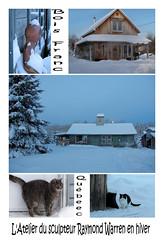 L'Atelier de Raymond Warren en hiver.../  Sculptor Raymond Warren's workshop in winter... (Pentax_clic) Tags: winter artist quebec hiver january janvier artiste boisfranc imgp5935 raymondwarren