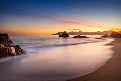 Cannes Sunset [EXPLORED] (jpmiss) Tags: longexposure sunset sea sky mer france canon rocks cannes couleurs côtedazur ciel coucherdesoleil rochers 6d frenchriviera 1635mm estrel nd8 provencealpescôtedazur jpmiss