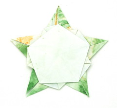 Fujimoto pentagon Rosette 33 back (Pliages et vagabondages) Tags: star origami rosette pentagon décoration déco étoile fujimoto pentagone