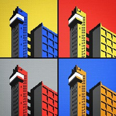 LEGO Trellick Tower All Colours (daveh_design) Tags: london art square wallart squareformat brutalism ernogoldfinger goldfinger afol brickart brutalistarchitecture legoart londonarchitecture legomoc legomosaic iphoneography colourarchitecture instagramapp uploaded:by=instagram