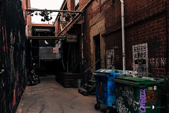 Fitzroy/Collingwood 16-05-16 (Divided Creative) Tags: street urban streetart art outdoors graffiti alley shoes collingwood fitzroy australia melbourne victoria motorcycle skips bins backwoods whileyousleep kustomkommune