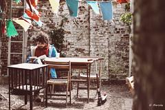 Real book reader (marcducati) Tags: party summer feest sun tree male grass wall table reading book boek chair fuji reader outdoor sunny bbq flags read dirt step fujifilm gras barbeque ladder festivities fujinon muur feesten tafel stenen vlaggen aarde pakr pastory 56mmf12 fujinon56mmf12 mei2016 pastoryfeesten pastoryfeesten2016