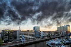 Smoke aesthetics (michaelbeyer_hh) Tags: fire smoke hamburg hafen hafencity