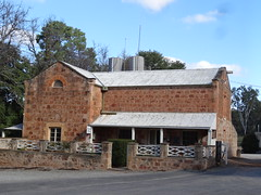 Clare. Bungaree Station established 1842 by the Hawker brothers. The Station Store and Office. Probably built in the 1860s. Sandstone from the property used for its construction. (denisbin) Tags: station estate hawkers clarevalley woolshed shearingshed bungaree