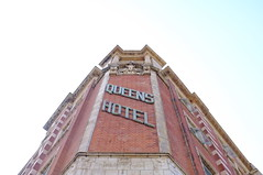 Queen's Hotel, Southsea (Claire_Sambrook) Tags: streets sign architecture walk portsmouth seafront southsea queenshotel