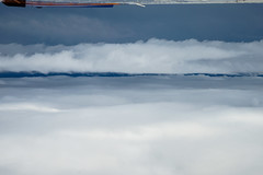Cloud line (flightlevel000) Tags: blue sky cloud clouds airplane flying view aviation sony wing dream cockpit dreamy puffy a7 cloudscape a7ii