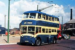 Ashton under Lyne Corporation Crossley Empire Trolleybus (moomooland1) Tags: manchester trolleybus greatermanchester northwestengland ltc774 ashtonunderlynetrolleybus