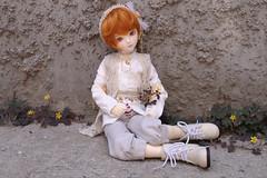 Taylor with Weeds (almyki) Tags: boy fashion ball asian doll skin body 14 mini fairy tiny amaryllis bjd normal emilie luts mori bf abjd joint msd tf bluefairy makoeyes