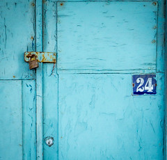 Blue door No 24 (TD2112) Tags: blue shop rust negativespace hastings padlock tonyduke