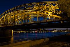 Hohenzollernbrcke (MaGl75) Tags: bridge blue night nacht kln blau brcke blauestunde hohenzollernbrcke