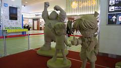 Dedective Conan sand figure (EMkro) Tags: original art station japan spring sand asia raw kunst dunes bahnhof backpacking figure figur dne tottori frhling conan unbearbeitet dedectiv detectiv