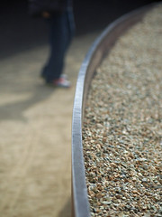 Texture (Grazerin/Dorli B.) Tags: blur texture losangeles pebbles edge elements gettymuseum gettycenter gettygarden