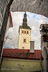 Tower of St. Nicholas' Church. (Jonan G.E) Tags: tower architecture canon europe estonia baltic medieval historic oldtown tallin stnicholaschurch medievalcity canon40d jonanesguerra