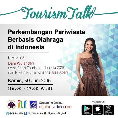 Ayo ikuti talkshow dengan Miss Sport Tourism Indonesia dari eljohn Pageants bersama Mas Issa Abari #putripariwisataindonesia #eljohntv #eljohnpageants #eljohntourism #eljohnradio #eljohncreative
