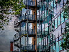 Symmetrical HELIX (paulnadin) Tags: fire interesting escape steps shapes staircase geometrical coils