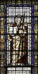 St Barnabas (Lawrence OP) Tags: windows london saints stainedglass stpancras barnabas apostle