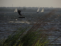 Kiteboarding & Sailing (Andrew Penney Photography) Tags: kitesurfing kiteboarders sailing sails watersports okc 405 lakehefner atthelake weds lake surfers dudes girl oklahomacity h2o smile fun enjoy water kite waves